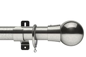 Swish 35mm Design Studio Mondiale Satin Steel Metal Curtain Pole