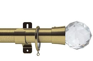Swish 35mm Design Studio Prisma Antique Brass Metal Curtain Pole