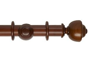 Hallis 45mm Museum Asher Wooden Curtain Pole Antique Pine