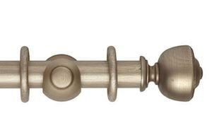 Hallis 45mm Museum Asher Wooden Curtain Pole Satin Oyster