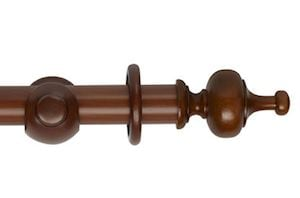 Hallis 45mm Museum Boudoir Wooden Curtain Pole Antique Pine