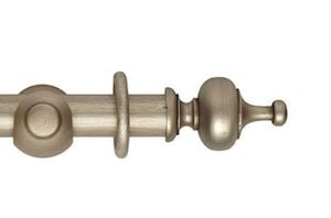 Hallis 45mm Museum Boudoir Wooden Curtain Pole Satin Oyster