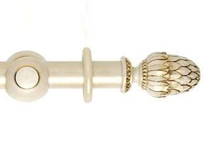 Hallis 45mm Museum Pantheon Wooden Curtain Pole Cream Gold