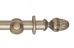 Hallis 45mm Museum Pantheon Wooden Curtain Pole Satin Oyster