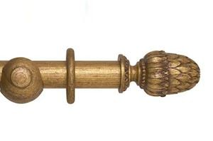 Rolls 45mm Museum Pantheon Wooden Curtain Pole Antique Guilt