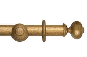 Hallis 45mm Museum Parham Wooden Curtain Pole Antique Guilt