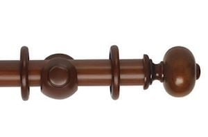 Hallis 45mm Museum Parham Wooden Curtain Pole Antique Pine