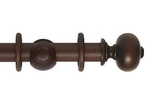 Hallis 45mm Museum Parham Wooden Curtain Pole Satin Chestnut