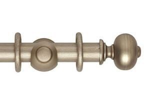 Hallis 45mm Museum Parham Wooden Curtain Pole Satin Oyster
