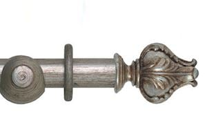 Hallis 45mm Museum Vienna Wooden Curtain Pole Antique Silver