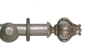 Hallis 45mm Museum Vienna Wooden Curtain Pole Antique Silver