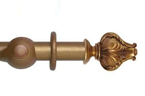 Hallis 45mm Museum Vienna Wooden Curtain Pole Red Gold