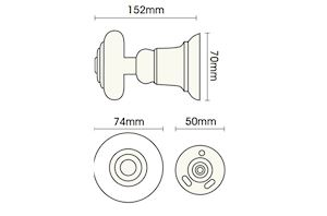 Rolls Honister 50mm Wooden Curtain Holdback French Grey - Thumbnail 2