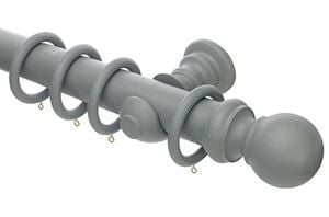 Rolls Honister 50mm Wooden Curtain Pole Pale Slate