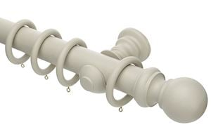 Rolls Honister 50mm Wooden Curtain Pole Stone