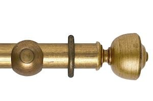 Hallis 55mm Museum Asher Wooden Curtain Pole Antique Guilt