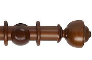 Hallis 55mm Museum Asher Wooden Curtain Pole Antique Pine