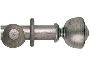 Hallis 55mm Museum Asher Wooden Curtain Pole Antique Silver