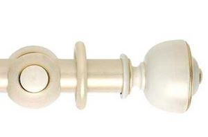 Hallis 55mm Museum Asher Wooden Curtain Pole Cream Gold Wash