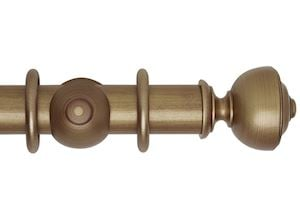 Hallis 55mm Museum Asher Wooden Curtain Pole Red Gold