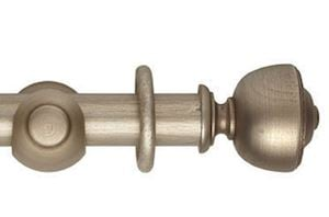 Hallis 55mm Museum Asher Wooden Curtain Pole Satin Oyster