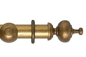 Hallis 55mm Museum Boudoir Wooden Curtain Pole Antique Guilt