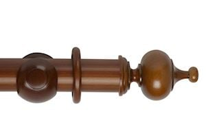 Hallis 55mm Museum Boudoir Wooden Curtain Pole Antique Pine
