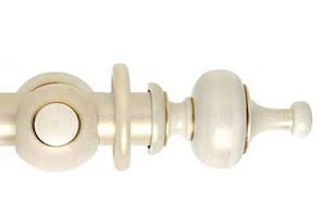 Hallis 55mm Museum Boudoir Wooden Curtain Pole Cream Gold Wash