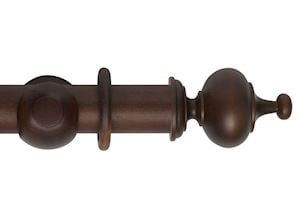 Hallis 55mm Museum Boudoir Wooden Curtain Pole Satin Chestnut