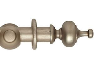 Hallis 55mm Museum Boudoir Wooden Curtain Pole Satin Oyster
