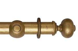 Hallis 55mm Museum Parham Wooden Curtain Pole Antique Guilt