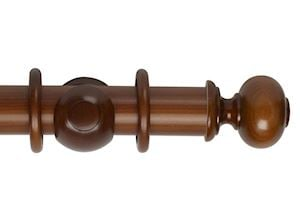 Hallis 55mm Museum Parham Wooden Curtain Pole Antique Pine