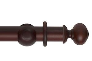 Hallis 55mm Museum Parham Wooden Curtain Pole Mahogany
