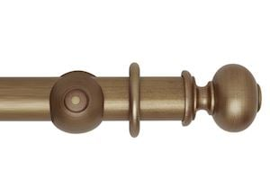 Hallis 55mm Museum Parham Wooden Curtain Pole Red Gold