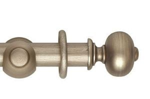 Hallis 55mm Museum Parham Wooden Curtain Pole Satin Oyster