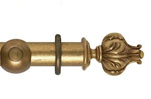 Hallis 55mm Museum Vienna Wooden Curtain Pole Antique Guilt