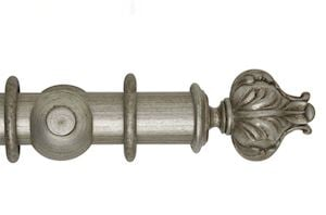 Hallis 55mm Museum Vienna Wooden Curtain Pole Antique Silver