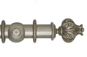 Hallis 55mm Museum Vienna Wooden Curtain Pole Antique Silver