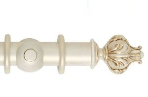 Hallis 55mm Museum Vienna Wooden Curtain Pole Cream Gold