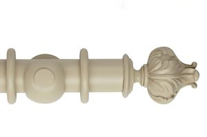 Hallis 55mm Museum Vienna Wooden Curtain Pole Flagstone
