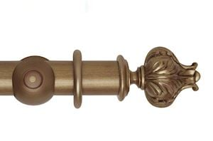 Hallis 55mm Museum Vienna Wooden Curtain Pole Red Gold