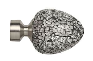 Speedy 28mm Alexia Mirror Finial Satin Silver