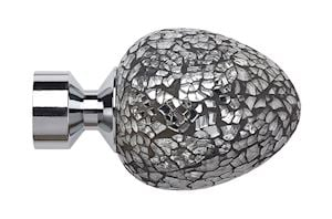 Speedy 28mm Alexia Mirror Finial Chrome