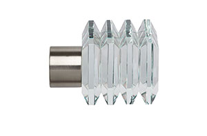 Speedy Square 28mm Satin Silver Finial