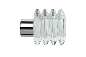 Speedy 28mm Square Finial Chrome