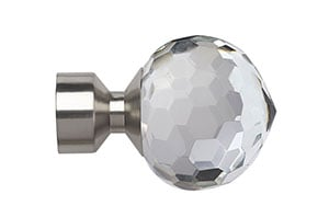 Speedy Bella 28mm Satin Silver Finial