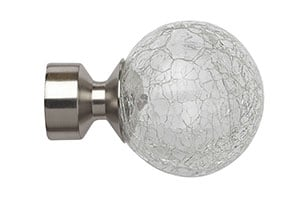Speedy Crash 28mm Poles Apart Satin Silver Finial