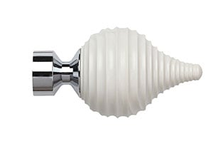 Speedy 28mm Swirl Cream Finial Chrome