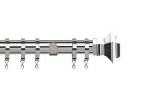Speedy 28mm Aztec Metal Curtain Pole  Chrome