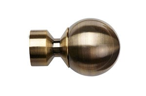 Speedy 28mm Ball Finial Antique Brass